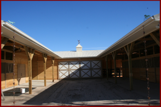 New construction  horse barn